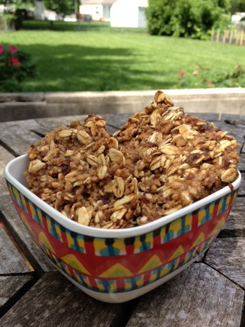 Chewy granola bars. healthy, easy, non-fat