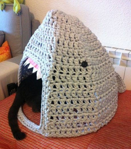 Cat Home Makeover From Cat To Shark Pet Houses Shark And Crochet