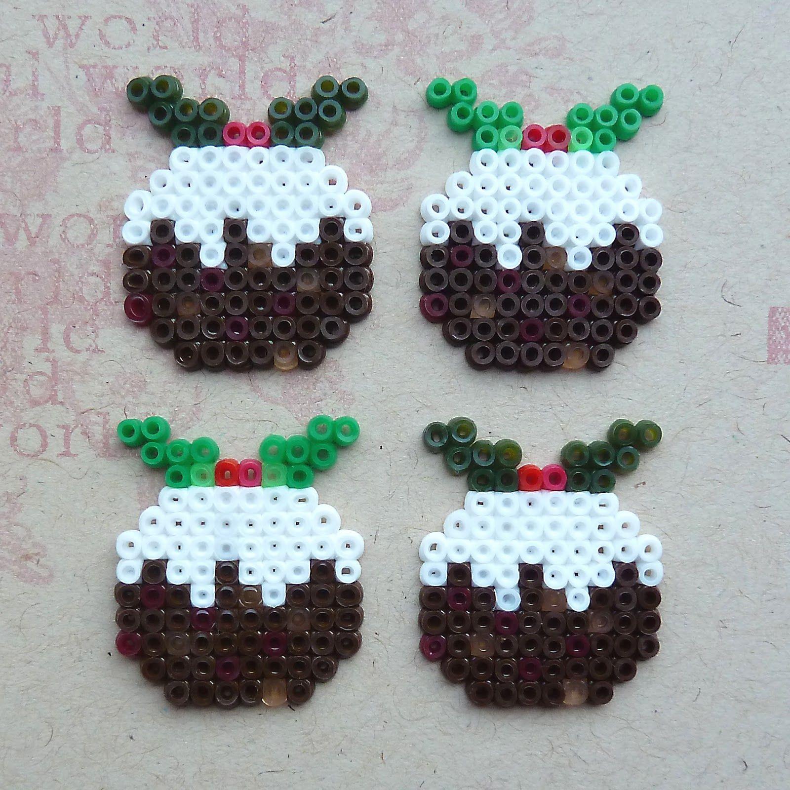 Christmas Hama Beads.All Of Me Hama Bead Christmas Puddings Perla Hama Beads