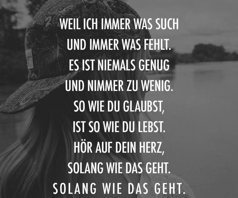 Bauch Und Kopf Mark Forster German Stuff Pinterest Quotes