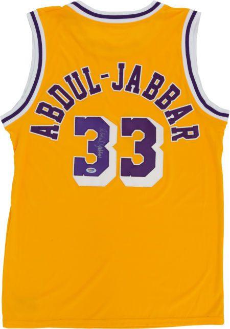 a041c0313dbd Kareem Abdul Jabbar Signed Jersey