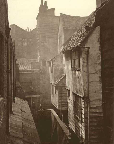 Cloth Fair, Smithfield 1877. Cloth Fair is a short narrow street running east from Smithfield to St. Bartholomew's Church. It contained a nu...