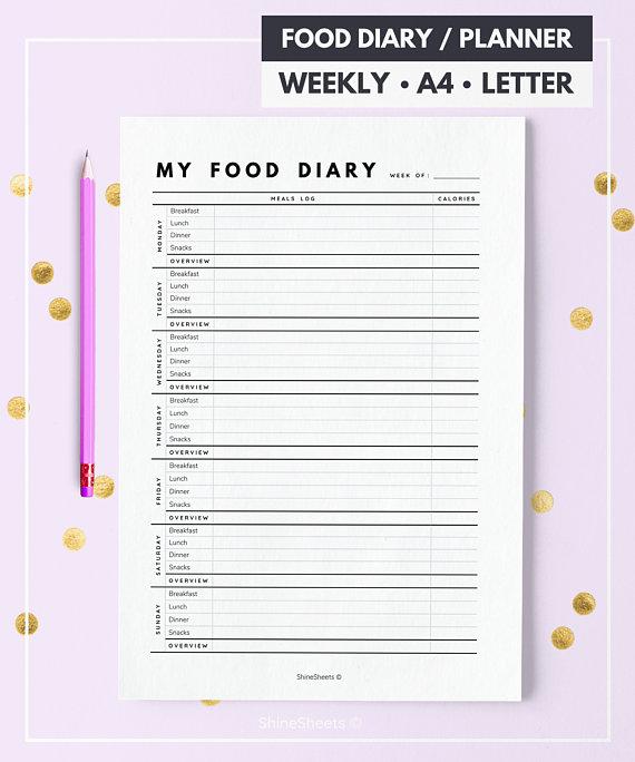 Druckbarer Diätkalender
