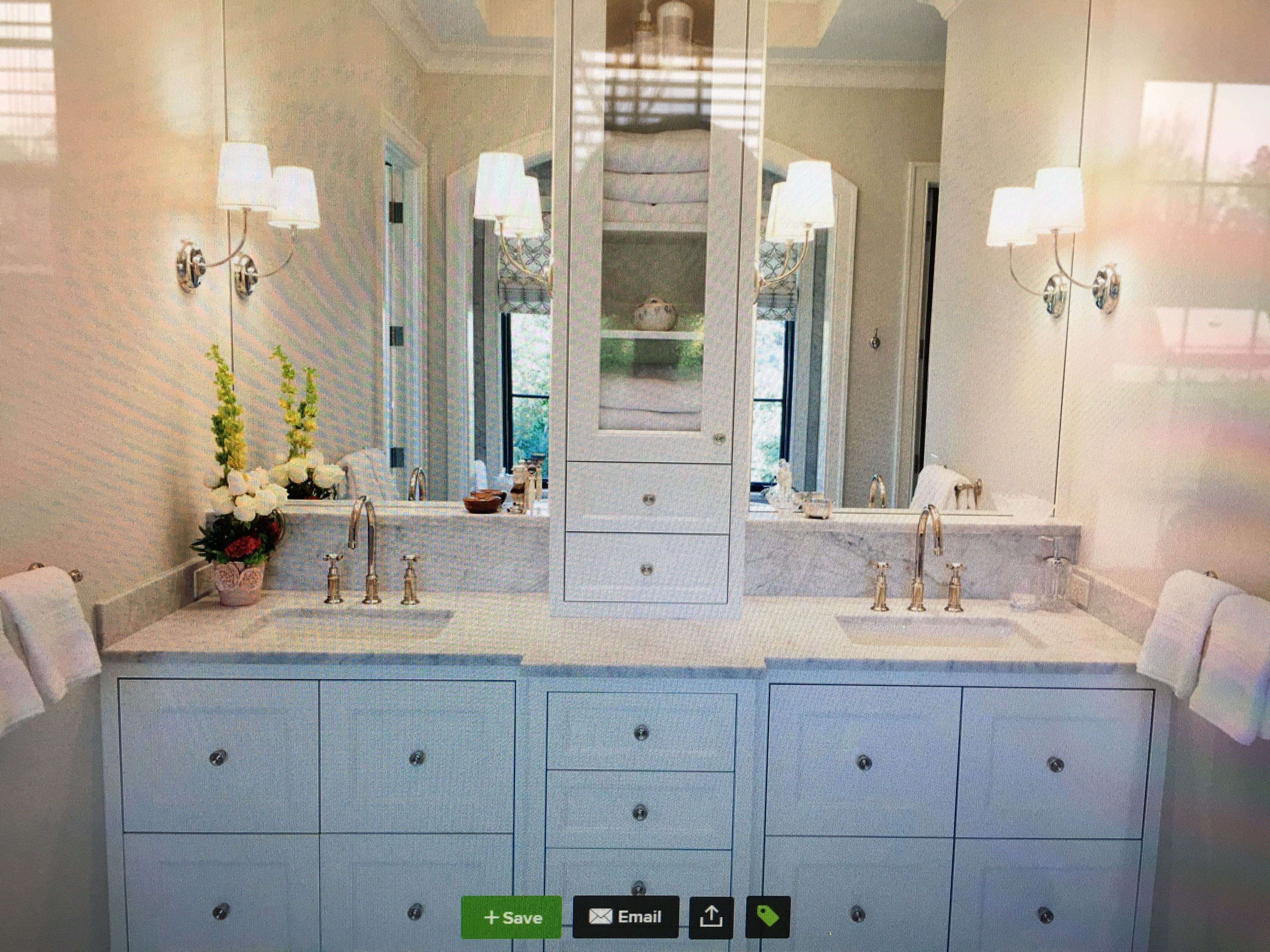 Sconce Placement With Full Mirrors Shared Bath Pinterest - Bathroom remodel grand rapids