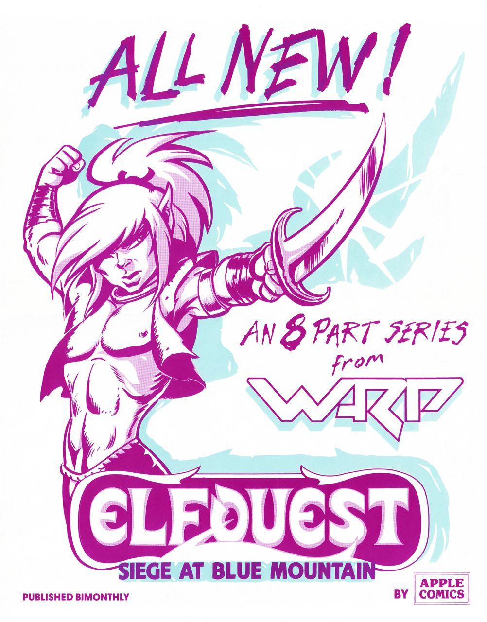 Elfquest siege at blue mountain teaser art by wendy pini