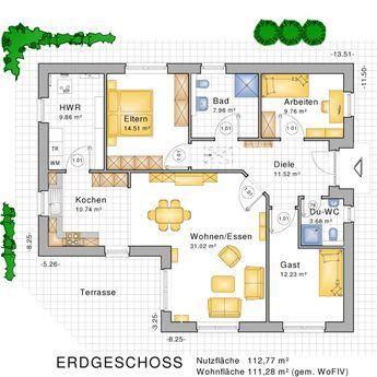 Hauspläne l-form  Bungalows, barrierefreies Wohnen auf einer Ebene - Bauunternehmen ...