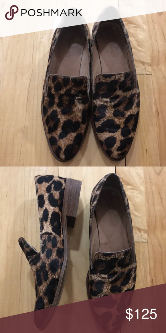 88da960752b Madewell Orson Calf-hair Leopard Loafer Light wear has some wear on soles  and creasing