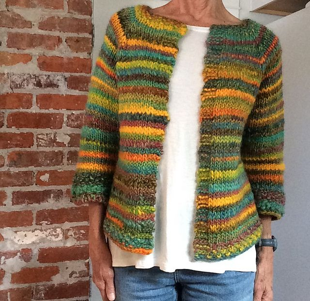 Ravelry: Project Gallery for Top-Down Raglan Cardigan pattern by Laura Chau