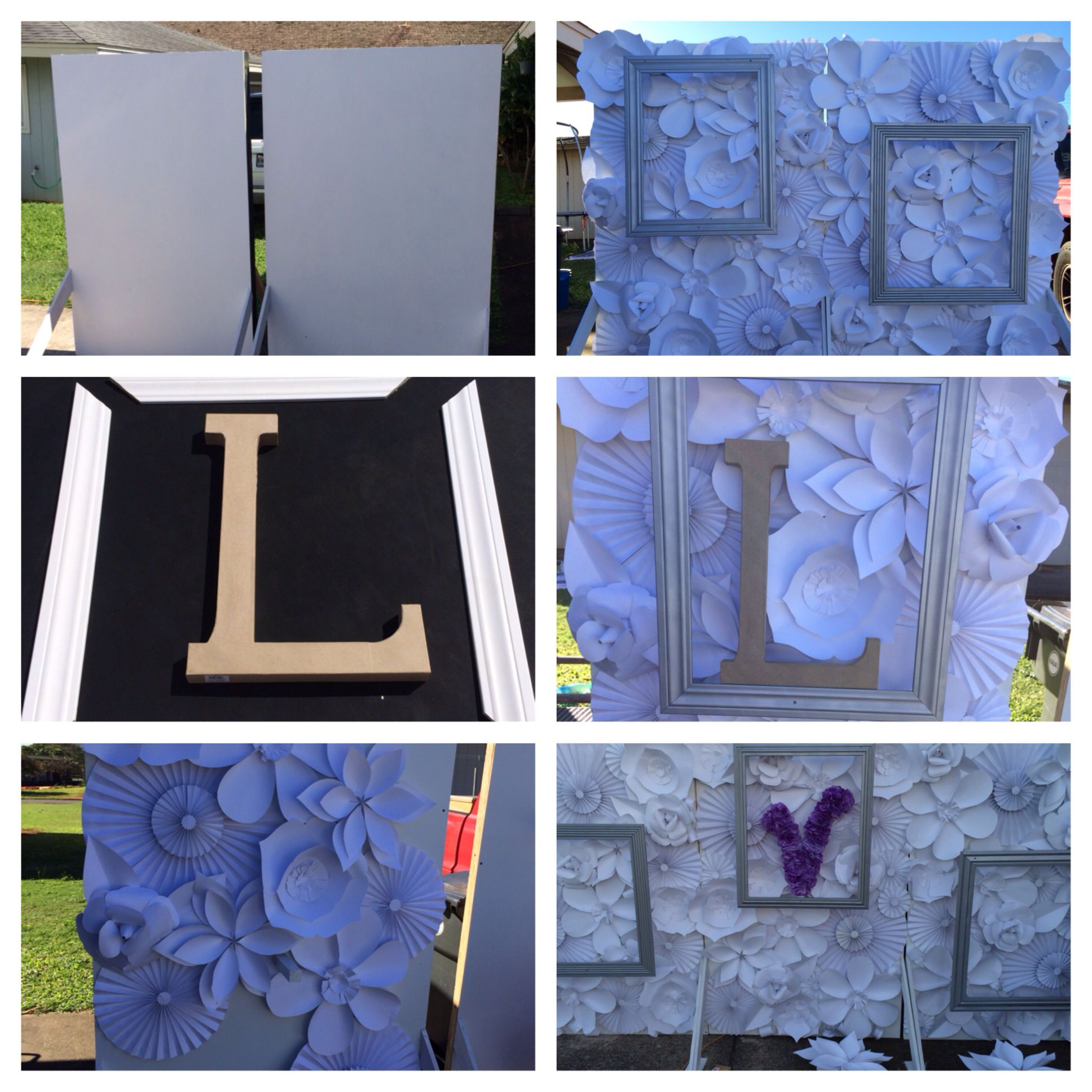paper flower stage backdrop diy wedding decorations on a