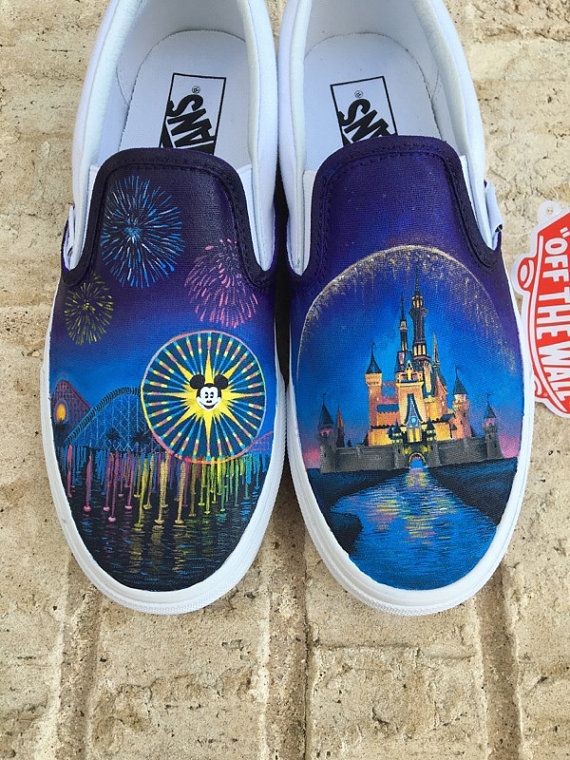 ab2fe751185e24 Disney World and Disneyland Painted Vans Custom Shoes - Shanny s Shoes