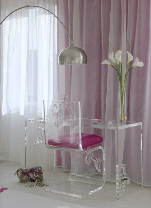 Pink & white room