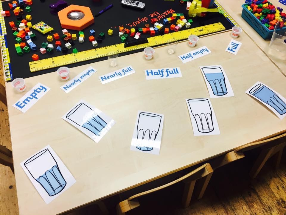 Capacity. | setting activities | Pinterest | Math, EYFS and Numeracy