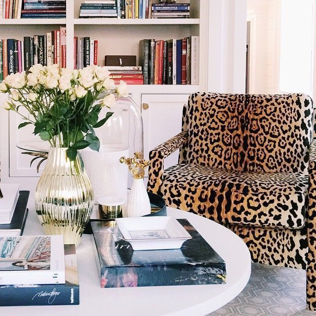animal prints done right  living room grey living room