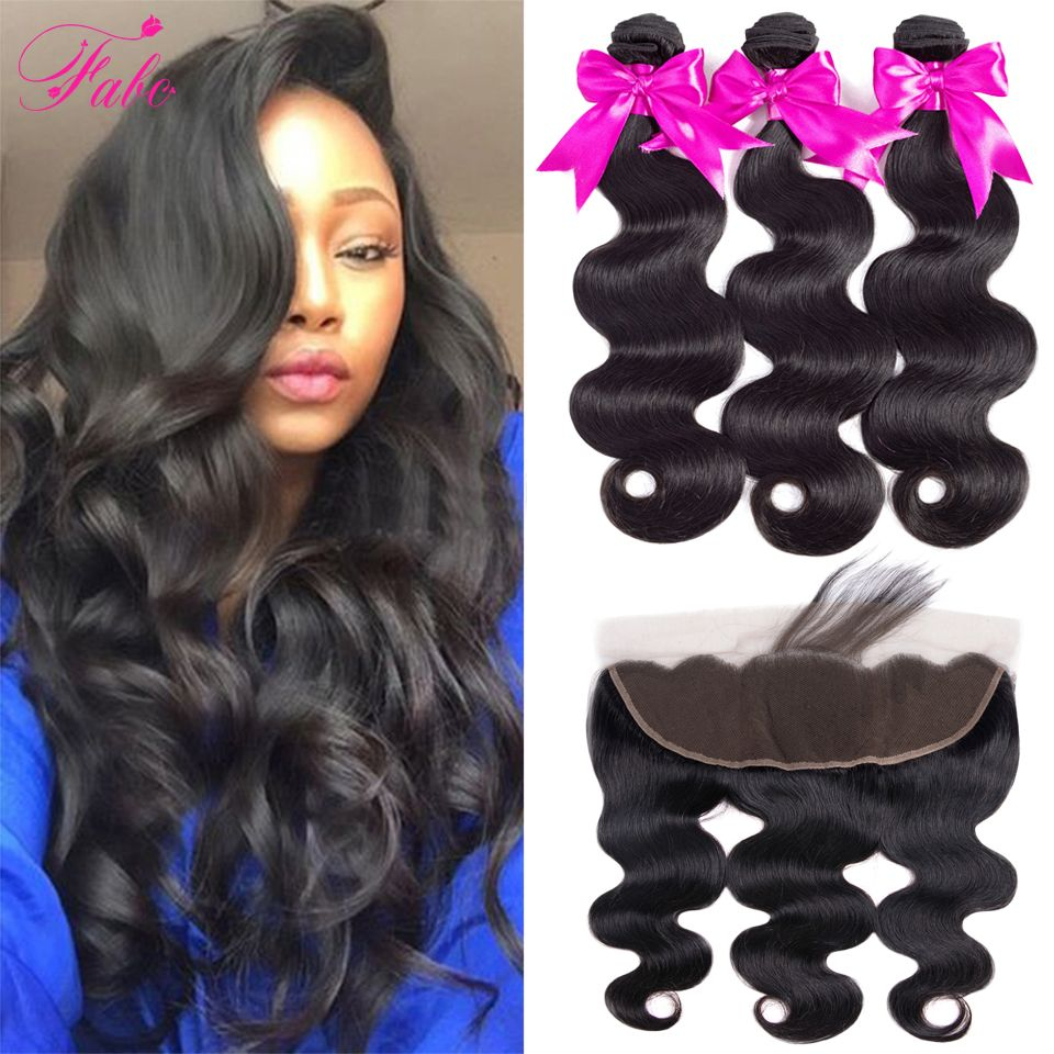 Fabc Hair Brazilian human hair Body Wave 3/4 Bundles With