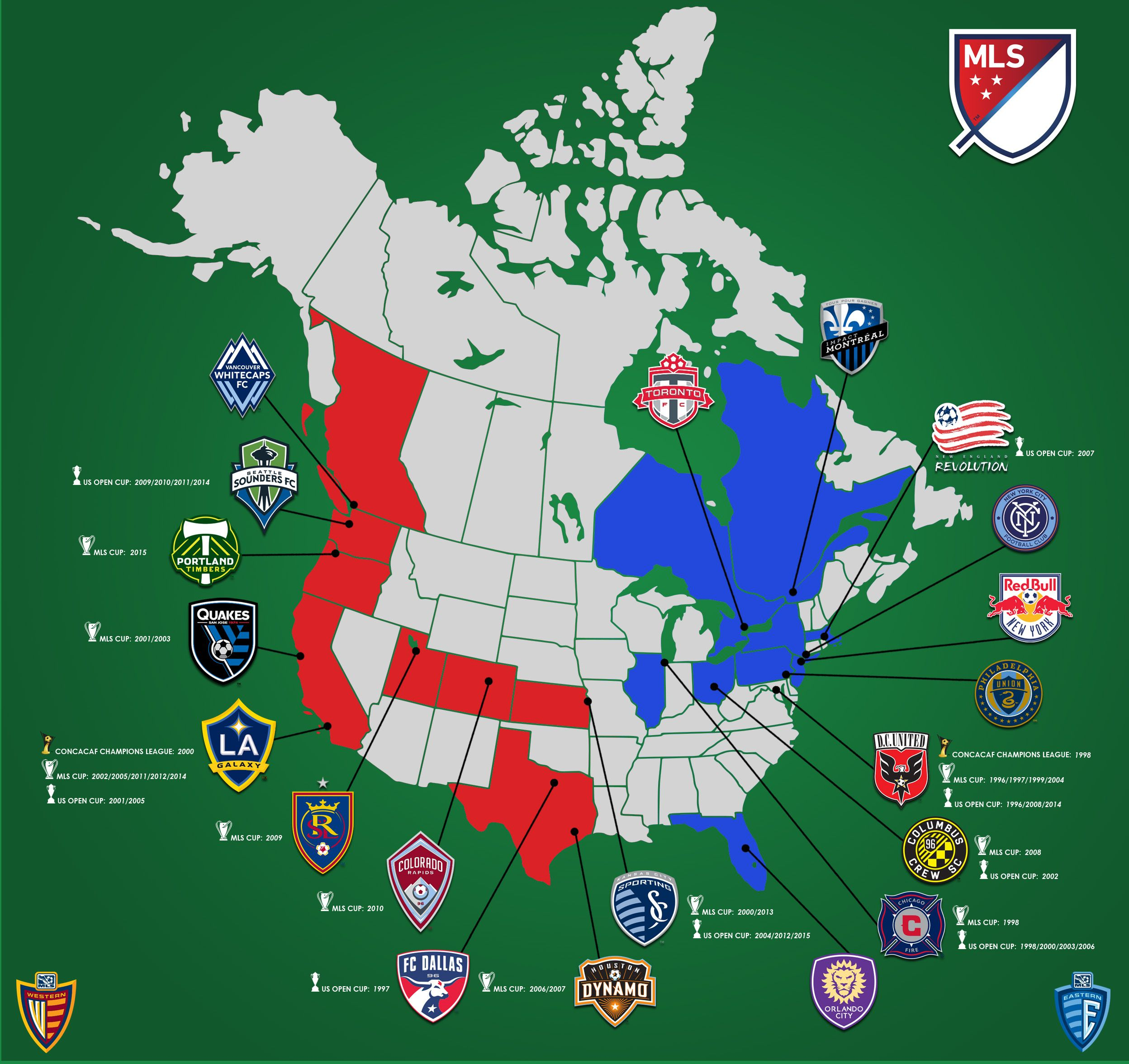 Map Mls Canada NEW MLS Map. Canada's fix. How embarrassing • /r/soccer   Map