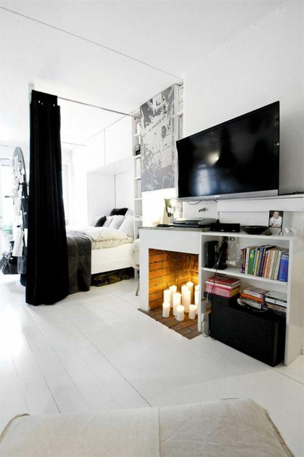 Weiße Einrichtung Für Kleine Wohnung