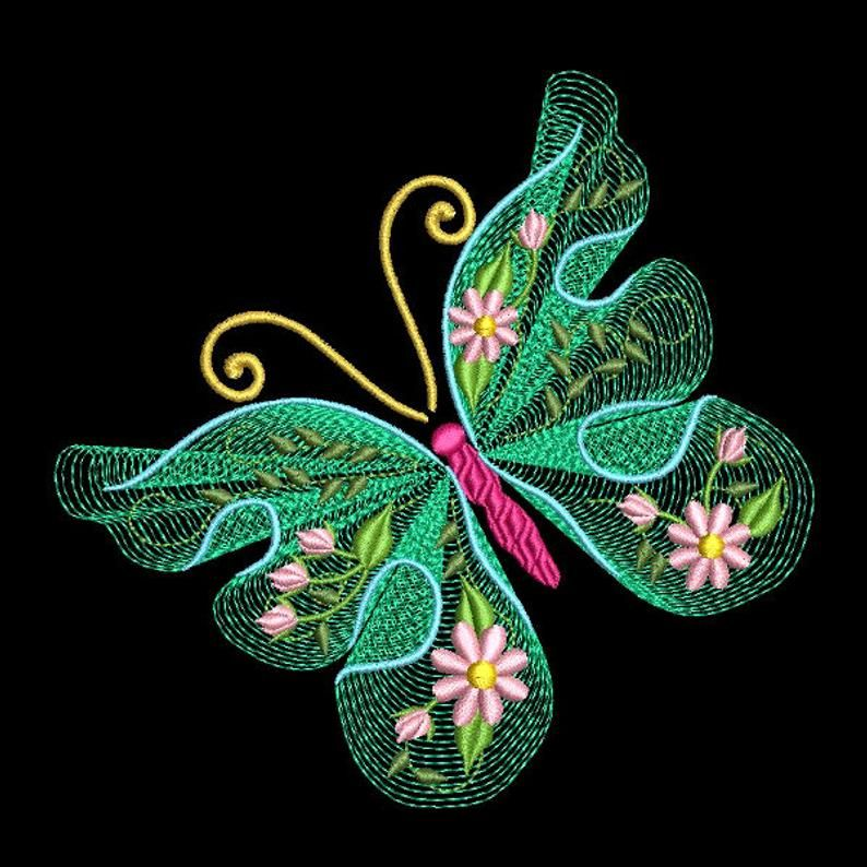 FLUTTERBY LUV 2 (4 inch) 10 Machine Embroidery Designs