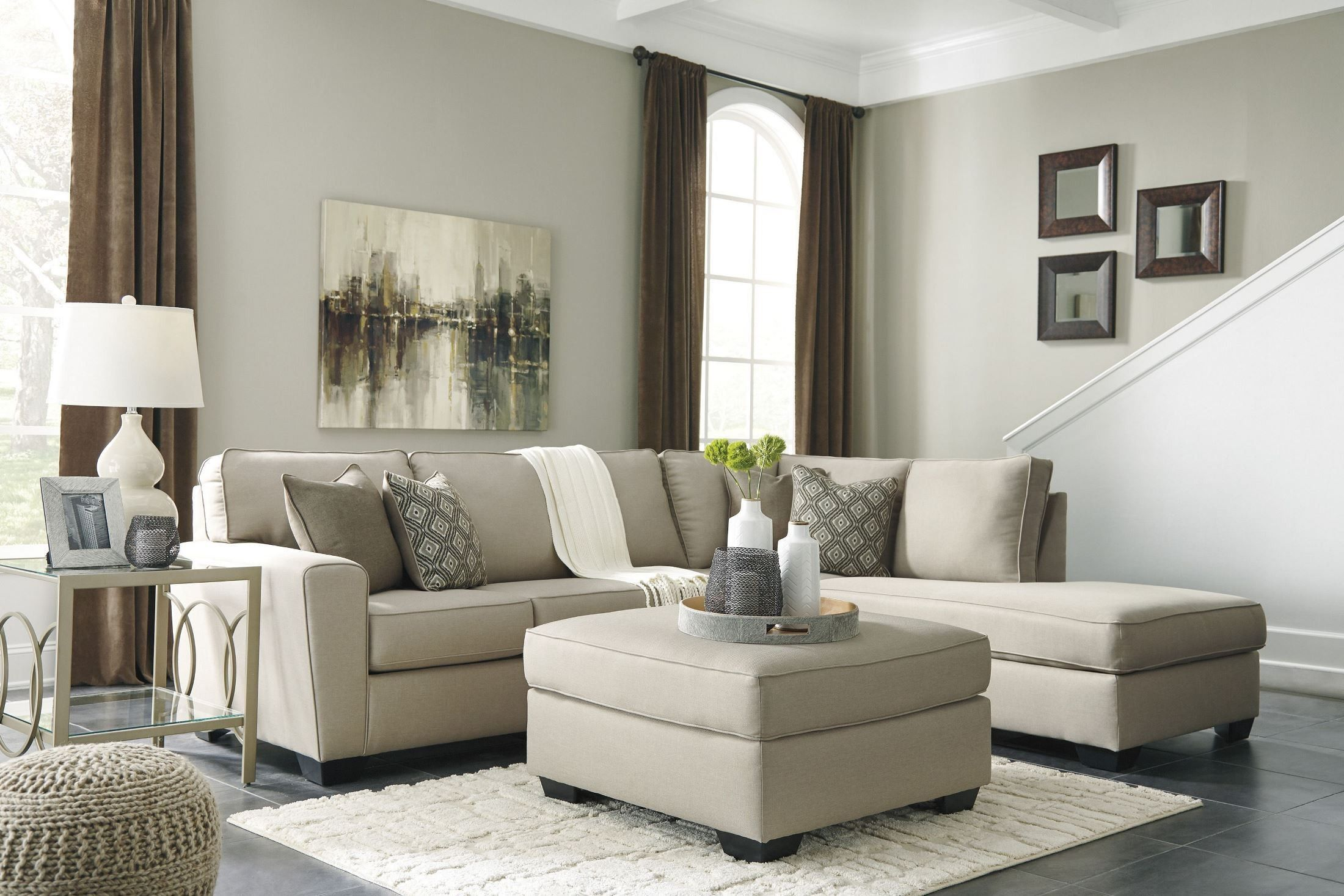 Calicho Ecru Raf Sectional City Furniture Living Room Sofa Furniture #taft #furniture #living #room #sets