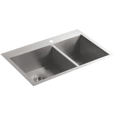 Kohler Vault 33 Dual Mount Kitchen Sink Stainless Steel