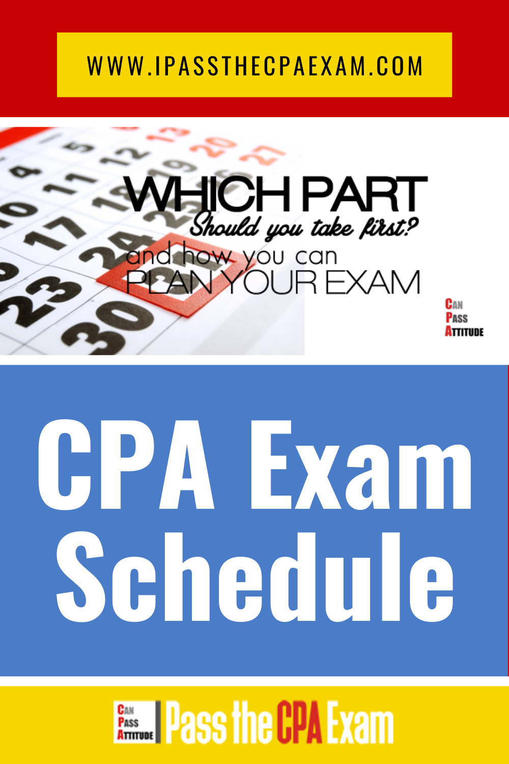 CPA Exam Schedule: How to Make Your CPA Exam Schedule in 2020 | Exam  schedule, Cpa exam, Cpa exam studying