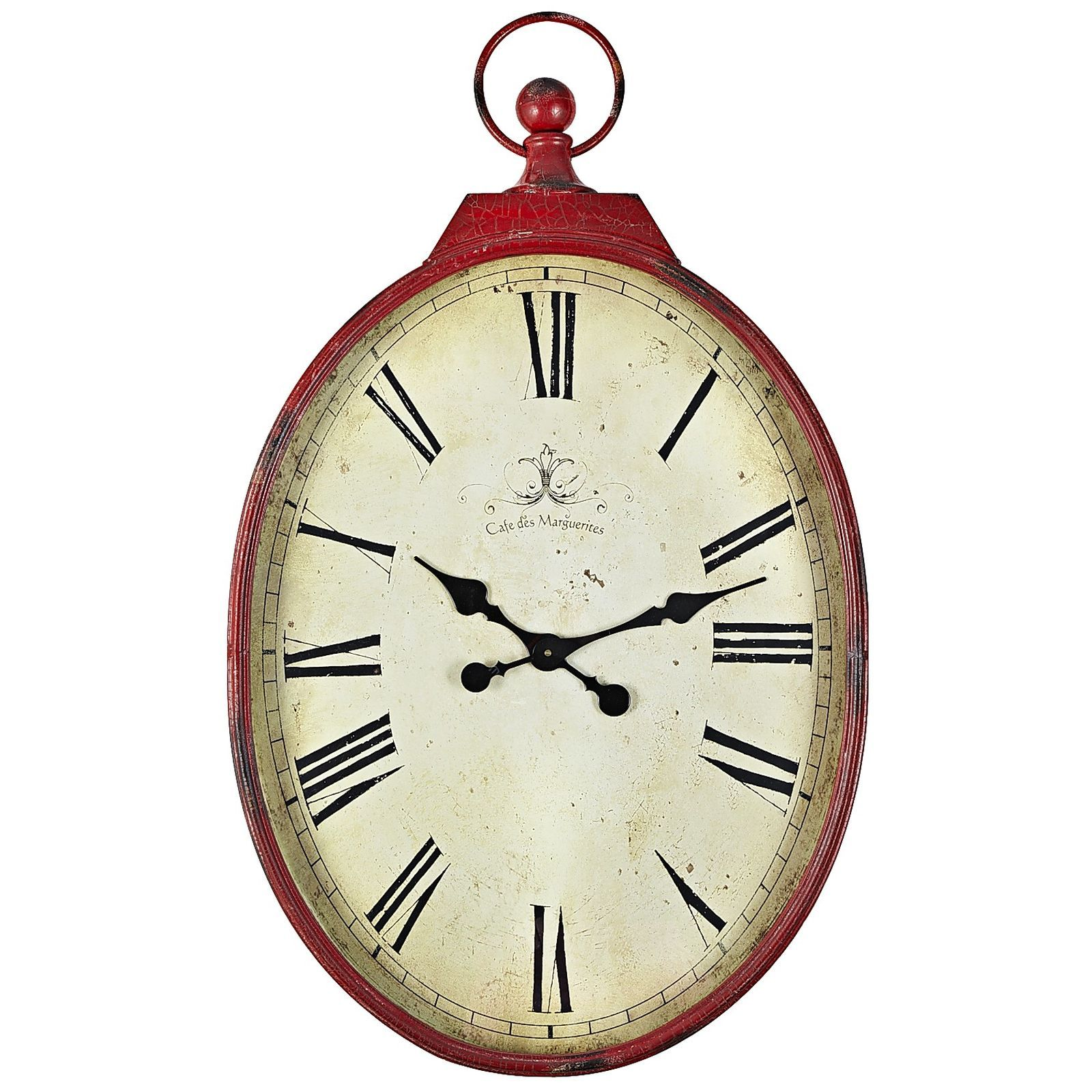 Antiqued Wall Clock Red Red Wall Clock Wall Clock Red Walls
