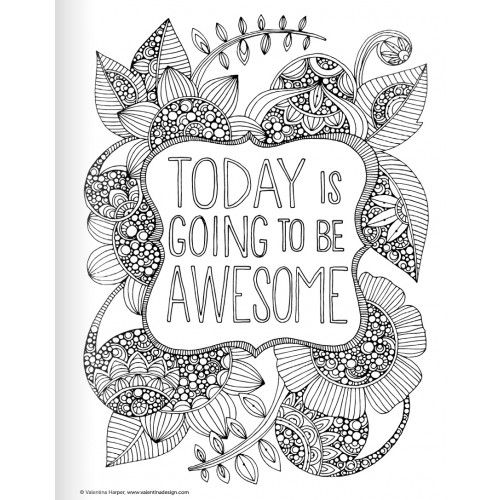 Positive Quotes Coloring Pages QuotesGram By
