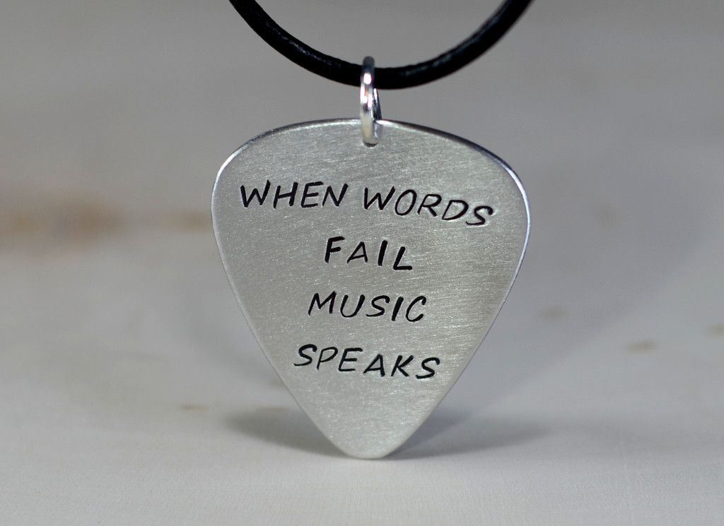 Guitar pick pendant when words fail music speaks pinterest mini guitar pick pendant when words fail music speaks aloadofball Image collections
