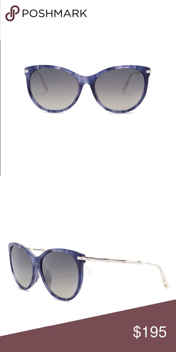 2cd0d526d0c6 Gucci🕶Sunglasses Women's Cat Eye-Color:Blue Horn-Measurements:58-17 ...