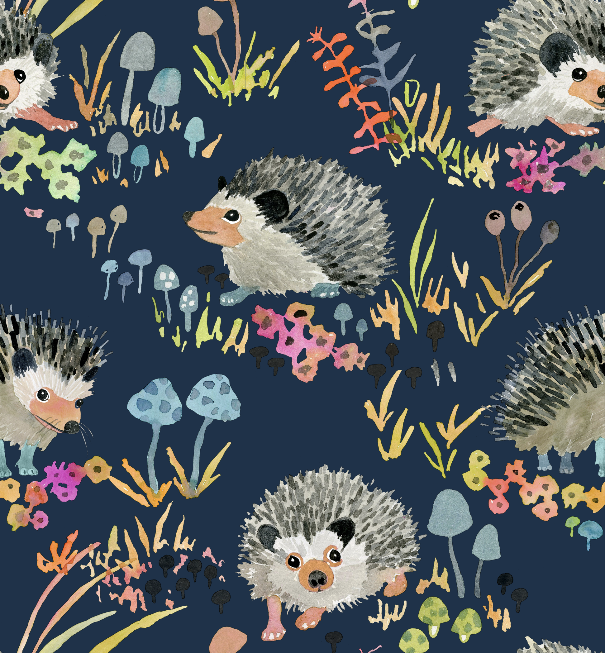 9 X 12 Sample Of Our Hedgehogs Wallpaper Wallpaper Samples Hedgehog Art Wallpaper
