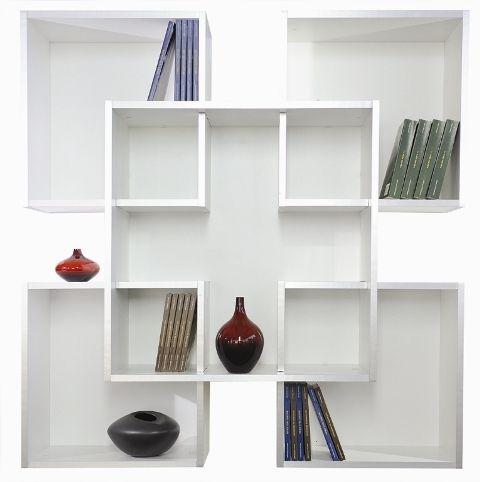 Librerie Da Muro Moderne.Libreria Da Muro Tato Design Moderno In Legno 120 X 120 Cm