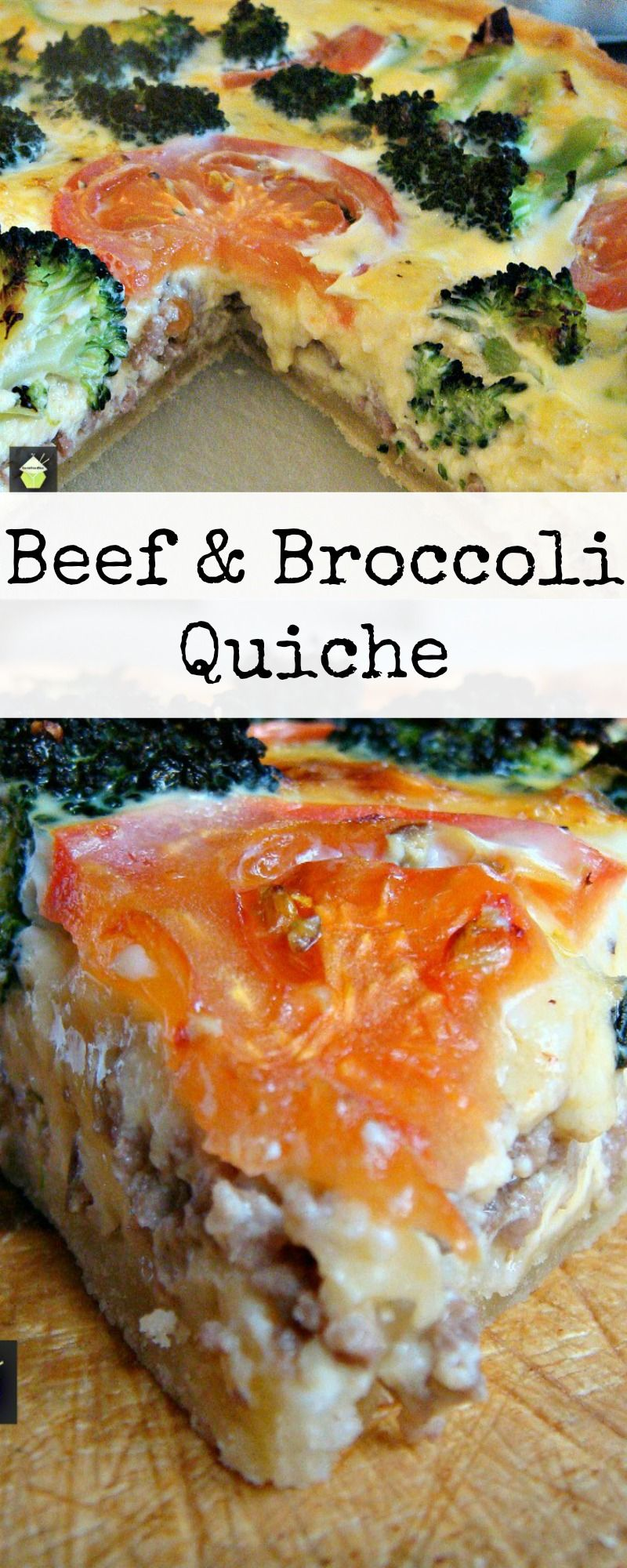 Ground Beef Broccoli Quiche A Great Recipe Suitable For Lunches Picnics Or Dinner Broccoli Beef Broccoli Quiche Broccoli Quiche Recipes