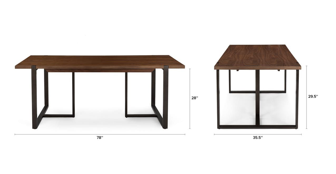 Oscuro Walnut Extendable Dining Table Dining Tables Modern