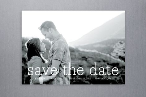 Writing in Coral: Simply in Love Save The Date Postcards by annie clark at minted.com
