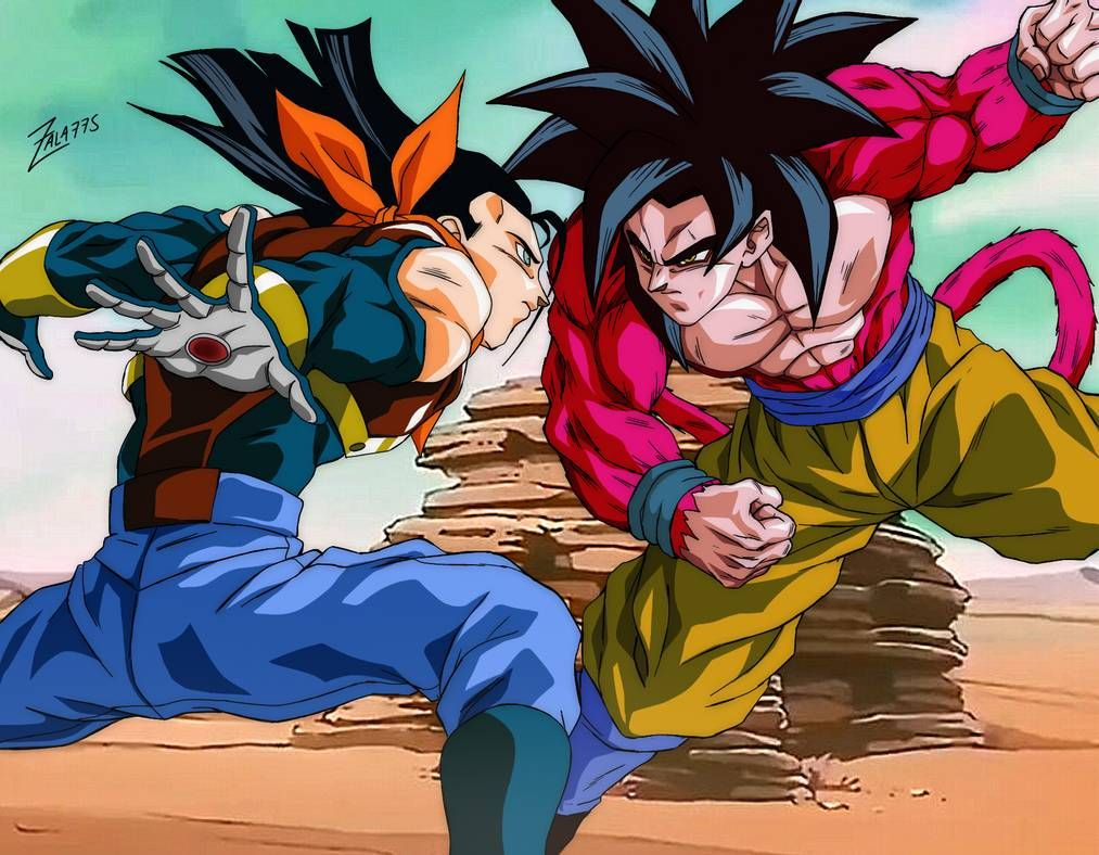 Goku Ssj4 Vs Super Androide 17 By Zala77s On Deviantart In 2021 Dragon Ball Gt Anime Dragon Ball Super Dragon Ball Super Manga
