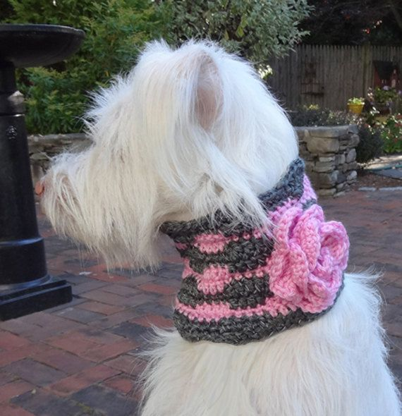 Crochet Dog Collar Flower Collar Reflective Medium Dog от lindalou ...