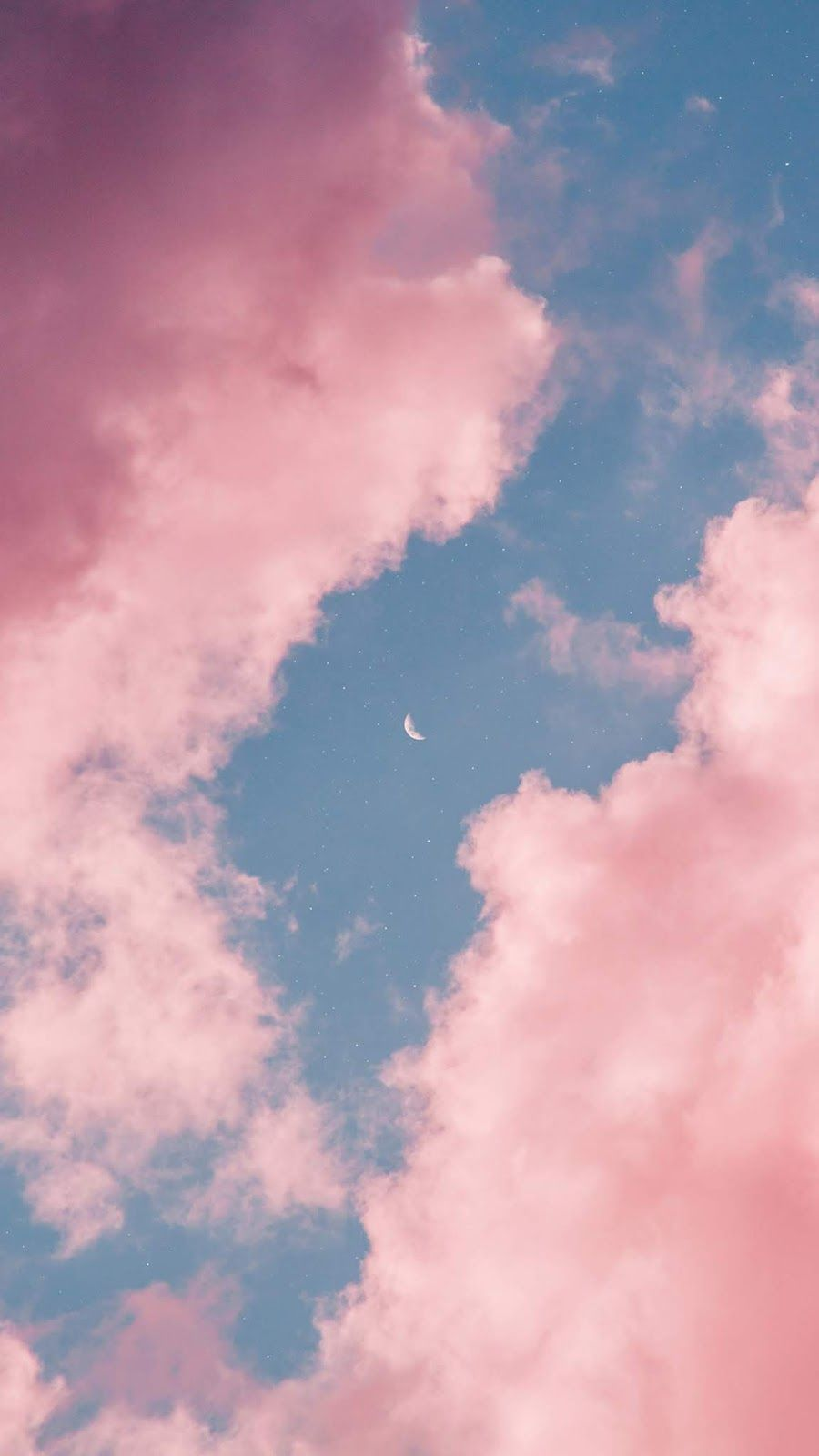 Pink Sky Night Sky Wallpaper Pink Clouds Wallpaper Sky Aesthetic