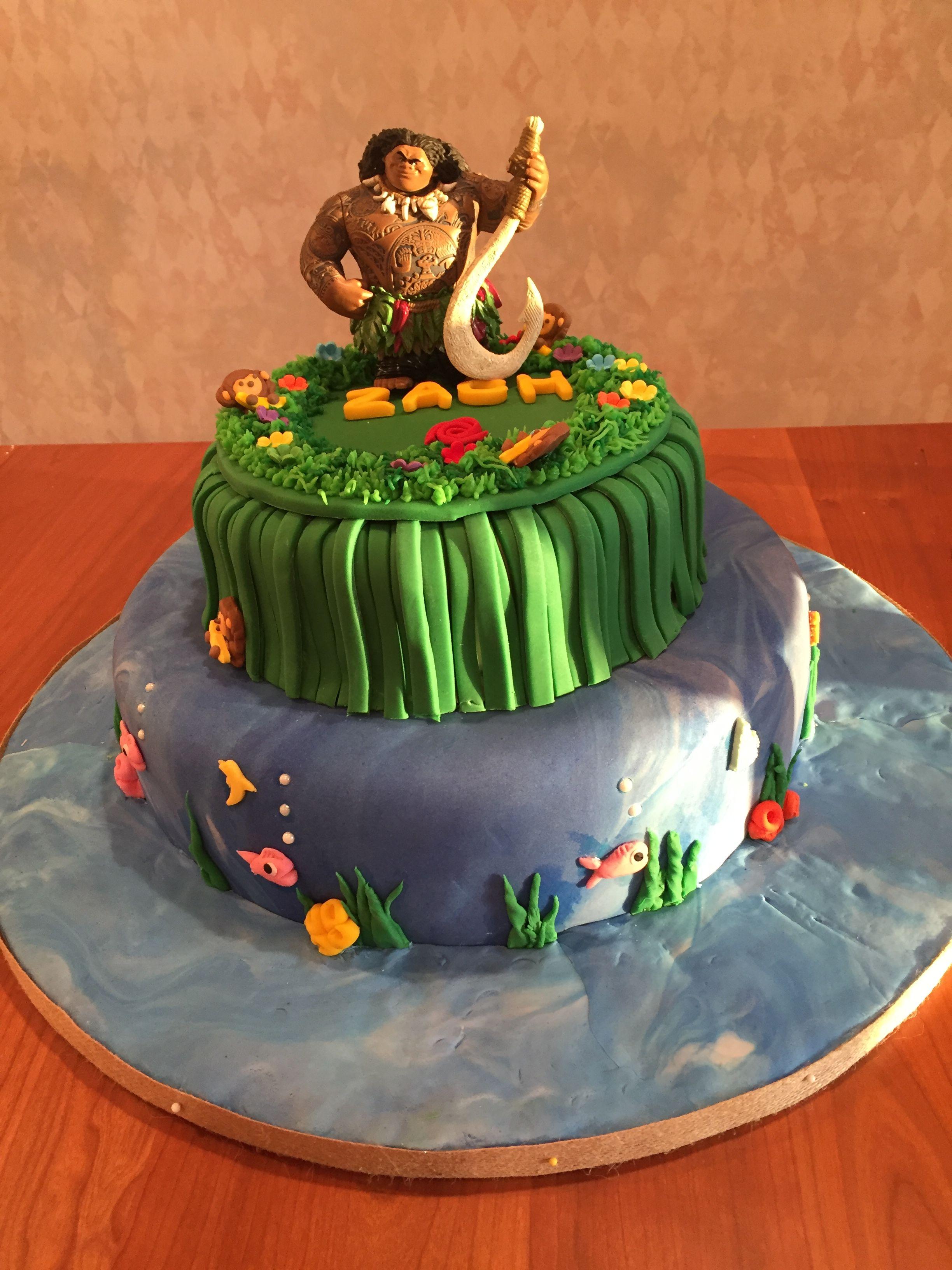 Maui Cake Cakes Pinterest Cake Moana And Birthdays