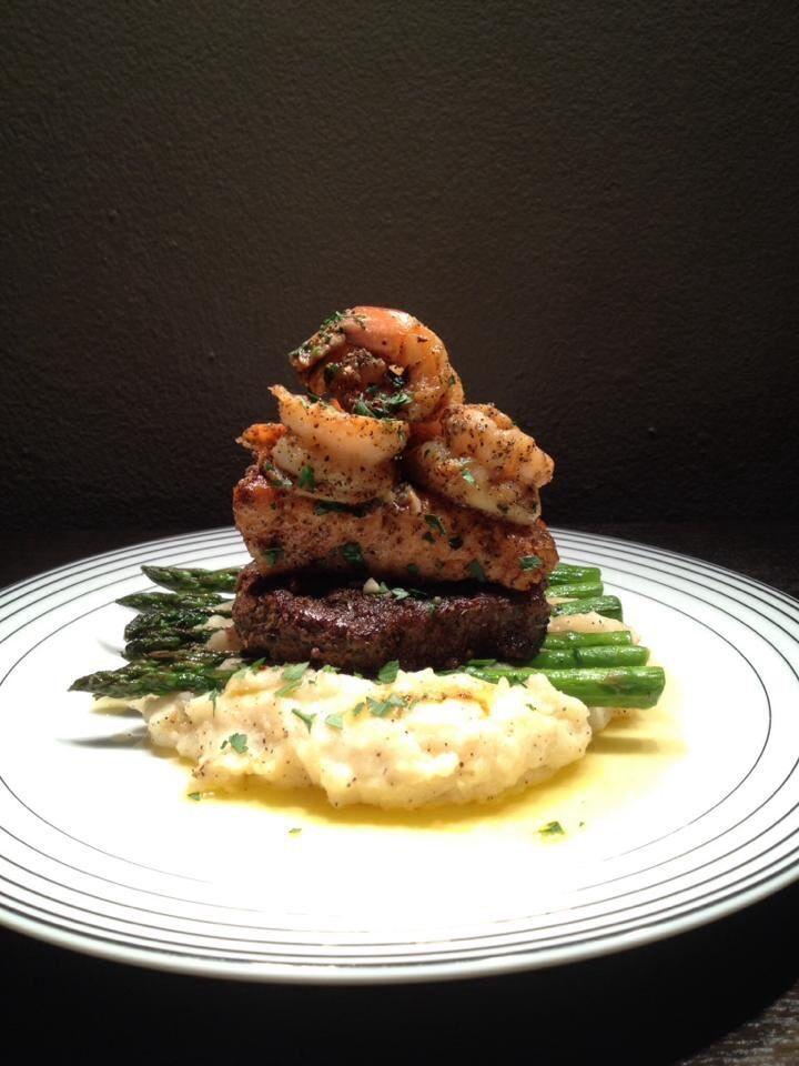 Chef Marvin Poole Mashed Potatoes Asparagus Steak Salmon Food Presentation Plates