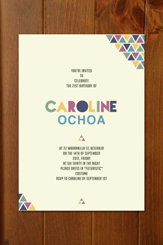 Modern Geometric Invitation Custom Printable Event