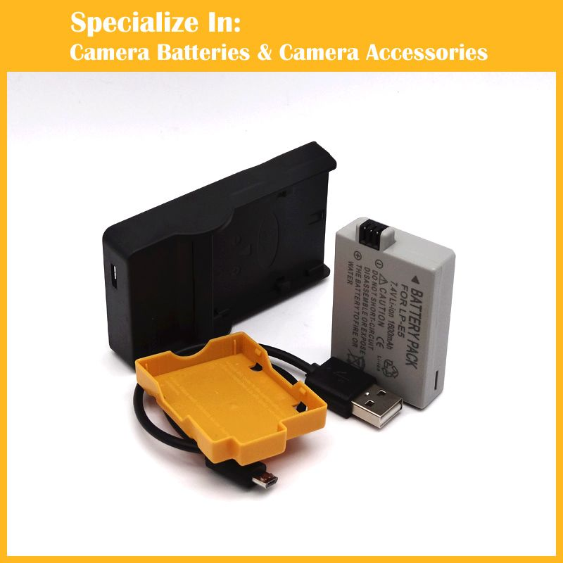 Eeyrnduy 1pcs LP-E5 LPE5 li-polymer camera Battery Charger set For ...