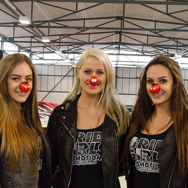 """""""The Grid Girls Promotions ladies Sophie D, Sophie S, Ali D sporting their Comic Relief red noses. Do something funny for money or donate to Comic Relief…"""""""