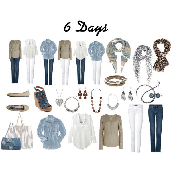 6 Days - Travel light #travelwardrobesummer