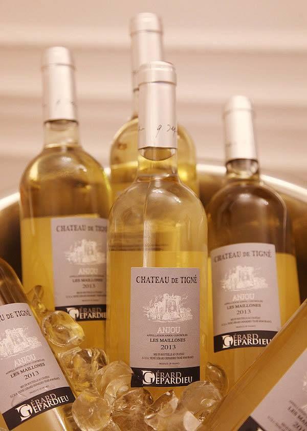 Graal Joaillier et Gérard Depardieu ont fait honneur aux Vignes Luxembourgeoises 2014 avec le vin du château de Tigné, Anjou blanc, Les Maillones 2013.