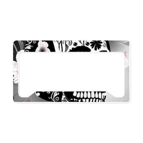 Skull License Plate Holder By Nicky License Plate Covers Plate Holder License Plate Frames