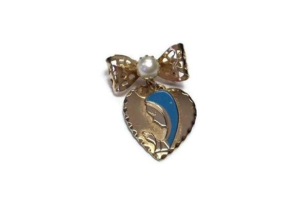 Virgin Mary Brooch Enamel Blessed Mother Lapel Pin Vintage Catholic Gift