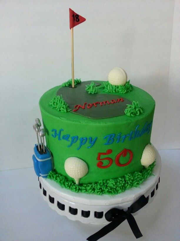 Golf themed 59th birthday cake Wwwfacebookcomclairescutecakes