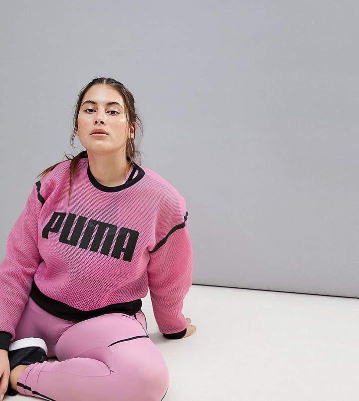 72f24579230 Puma Plus Exclusive To Asos Active Mesh Sweatshirt