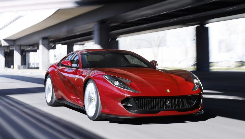 Ferrari 812 Superfast Red Sports Car Wallpaper Sports Car