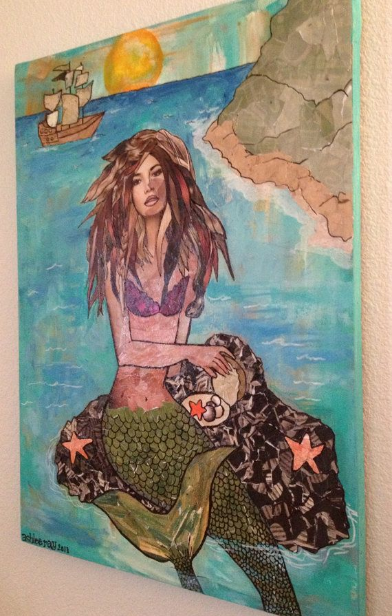 Mermaid Rock An original mixed media piece on by ...