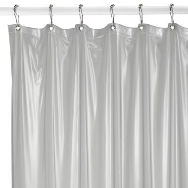 Bed Bath Beyond Medium Weight Shower Curtain Liner In Frosted